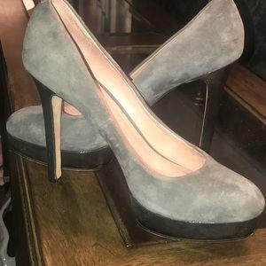 Grey suede Vince Camuto stilettos